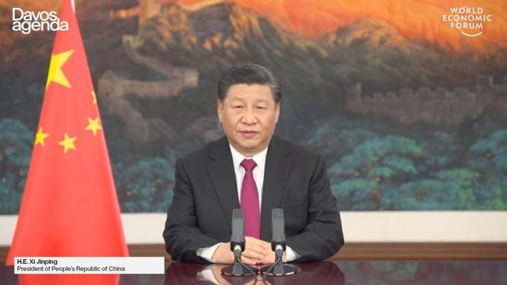 """Forum w Davos. Przywódca Chin przestrzegł przed """"nową zimną wojną"""""""