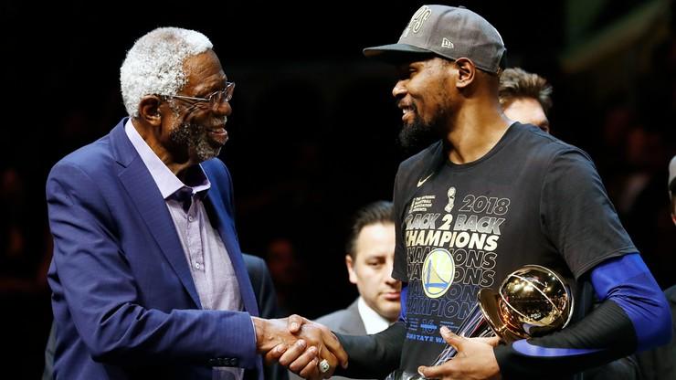 NBA: Russell przyjął pierścień dla koszykarzy wchodzących do Galerii Sław