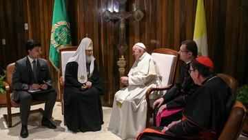 Historyczne spotkanie papieża z patriarchą Cyrylem. Franciszek: nareszcie