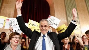 Alexander Van der Bellen minimalnie wygrał wybory prezydenckie w Austrii