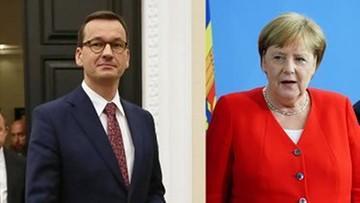 """""""Wyraziłem niezadowolenie i dezaprobatę"""". Premier o rozmowie z kanclerz Niemiec"""