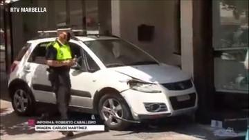 Kierowca wjechał w ogródki restauracyjne. Są ranni