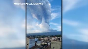 Ogromny słup dymu. Etna ponownie aktywna