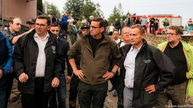 Mateusz Morawiecki w Głogoczowie: zrobimy wszystko, by straty zostały jak najszybciej usunięte