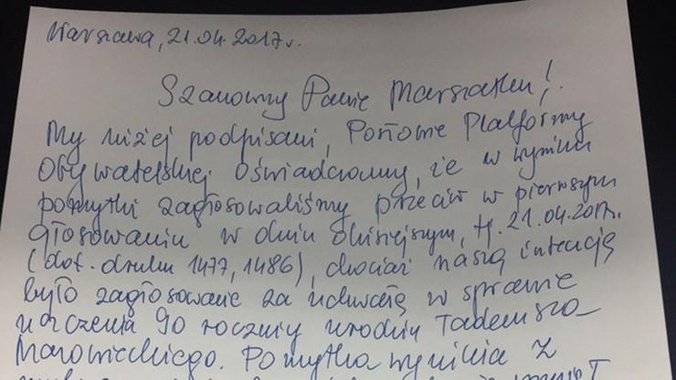 Kilku posłów PO pomyliło się w głosowaniu nad uchwałą ws. rocznicy urodzin T. Mazowieckiego