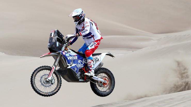 Rajd Dakar: Giemza wycofał się z powodu awarii motocykla