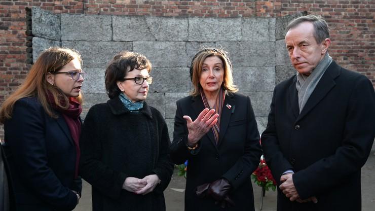 Przewodnicząca Izby Reprezentantów USA w Polsce. Odwiedziła Auschwitz