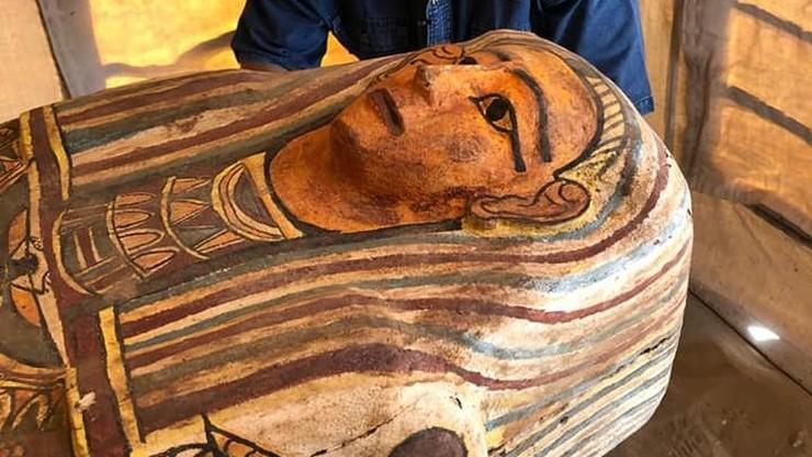 Niezwykłe znalezisko w egipskiej Sakkarze. Odkryto sarkofagi sprzed 2500 lat