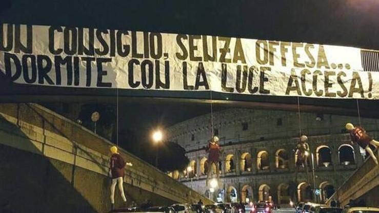 Kukły piłkarzy Romy zawisły przed Koloseum. Do ich zawieszenia przyznali się radykalni kibice Lazio