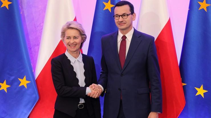 """Niemiecka prasa o wizycie von der Leyen w Warszawie. """"Polska oczekuje rewanżu za poparcie"""""""