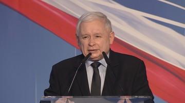 Kaczyński: opozycja przebiera się w owczą skórę, zza eleganckiej pani słychać kłapanie zębów wilka