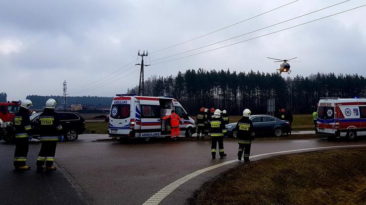 Wypadek na Podlasiu. Sześć osób rannych, w tym troje dzieci