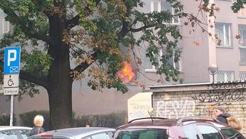 Pożar wieżowca w Warszawie. Kłęby dymu nad Powiślem