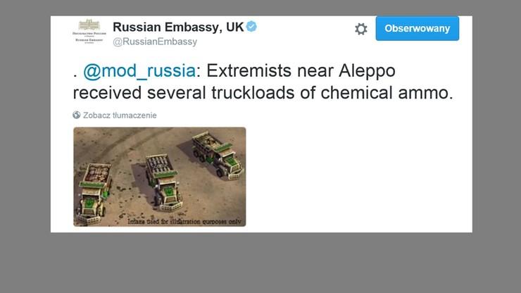 Wpadka rosyjskiej ambasady na Twitterze