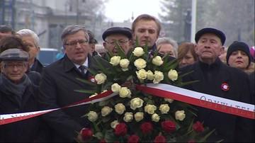 Komorowski: razem musimy starać się zabliźniać rany przeszłości. Schetyna: Polska skłócona zawsze przegrywa
