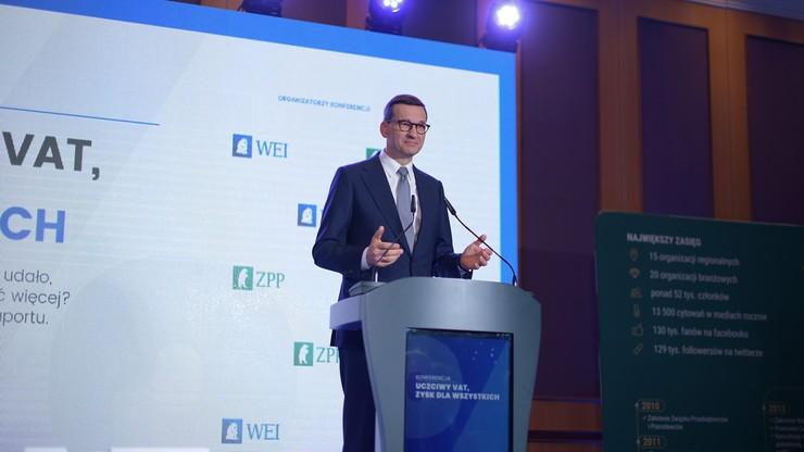 Mateusz Morawiecki: 100 mld zł więcej w budżecie dzięki uszczelnieniu VAT