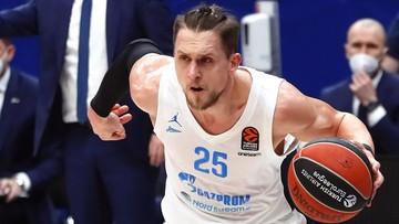 Euroliga: Zwycięstwo Zenitu po zaciętym meczu. Grał Mateusz Ponitka