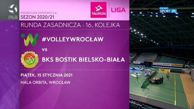 #VolleyWrocław – BKS Bostik Bielsko-Biała 0:3. Skrót meczu