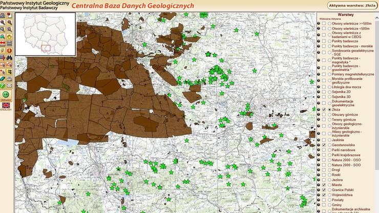 Polska udostępniła za darmo mapy złóż. Jako pierwsze państwo na świecie