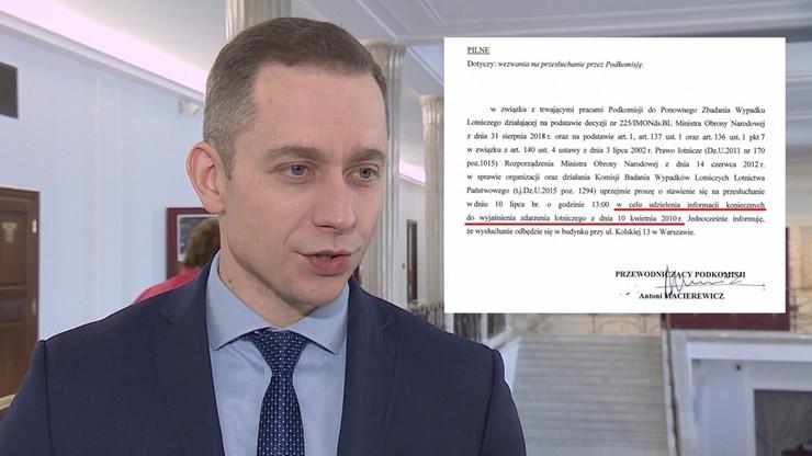 """Tomczyk wezwany przed Podkomisję Smoleńską. """"Nic nie ustaliła. Zmarnowała za to miliony złotych"""""""