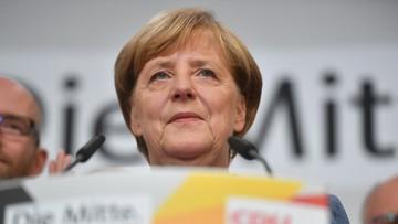 """""""Liczyliśmy na trochę lepszy wynik"""".  Merkel po zwycięstwie w wyborach"""