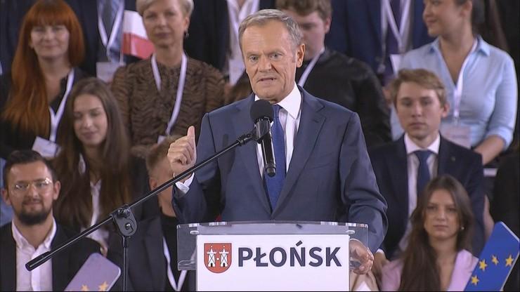 Konwencja PO. Donald Tusk: PiS i Kaczyński chcą wyprowadzić Polskę z UE. Ja to wiem