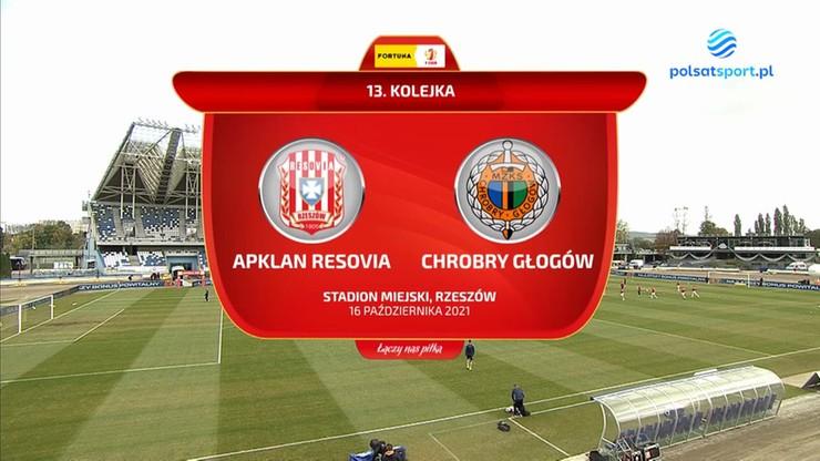 Apklan Resovia - Chrobry Głogów 3:0. Skrót meczu