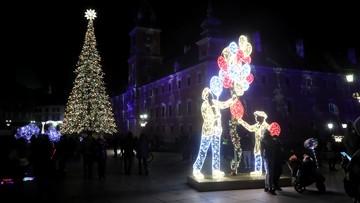 Warszawa: włączono świąteczną iluminację [ZDJĘCIA]