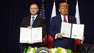 """""""Za parę miesięcy na pewno"""". Trump na spotkaniu z Dudą o zniesieniu wiz dla Polaków"""