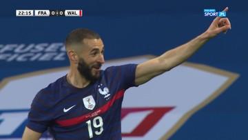 Karim Benzema nie wykorzystał rzutu karnego. Niezbyt udany powrót do kadry