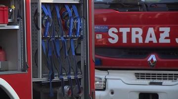 Pożar marketu w Brzegu. Dziewięć osób z objawami zatrucia czadem