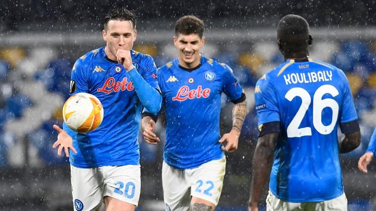 Liga Europy: Awans Napoli po pięknym golu Piotra Zielińskiego (WIDEO)