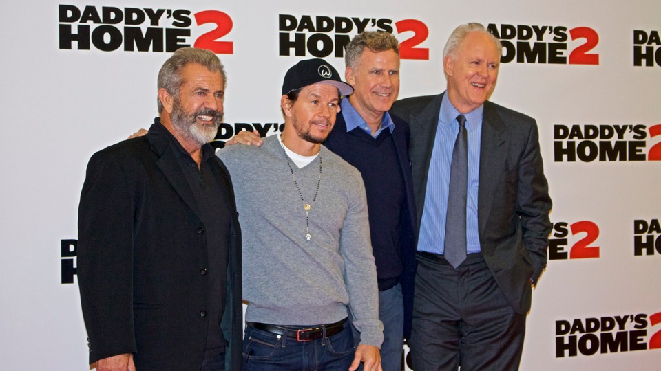 Mel Gibson, Mark Wahlberg, Will Ferrell i John Cena w czasie premiery
