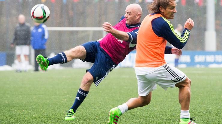 Infantino rozegrał mecz z gwiazdami futbolu