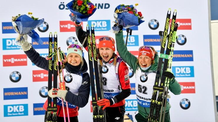 MŚ w biathlonie: Pierwsze złoto Kuzminy. Polki daleko w sprincie