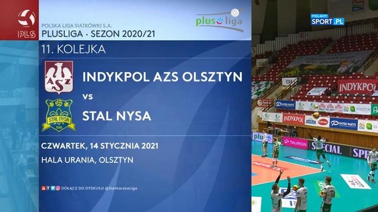 Indykpol AZS Olsztyn - Stal Nysa 3:1. Skrót meczu