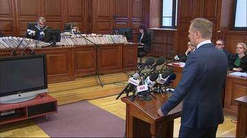 """Tusk przed sądem. """"Nie było w planach wspólnej wizyty; mojej oraz prezydenta Kaczyńskiego w Katyniu"""""""