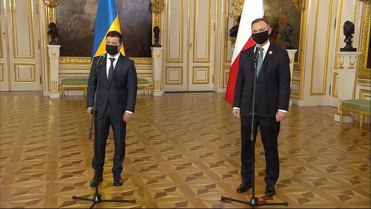Duda: bezpieczeństwo Ukrainy jednym z tematów rozmów z Zełenskim
