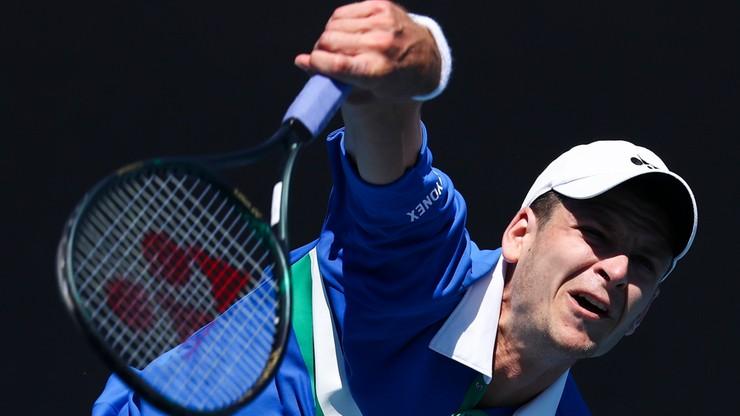 Australian Open: Hubert Hurkacz odpadł w I rundzie po pięciosetowym boju