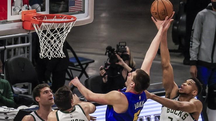 NBA: Wysokie zwycięstwo Nuggets. Jubileuszowe double-double Nikoli Jokica