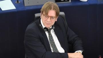 Verhofstadt do Szydło: nadużywacie istotnej większości, aby rozmontowywać mechanizmy regulacyjne w kraju