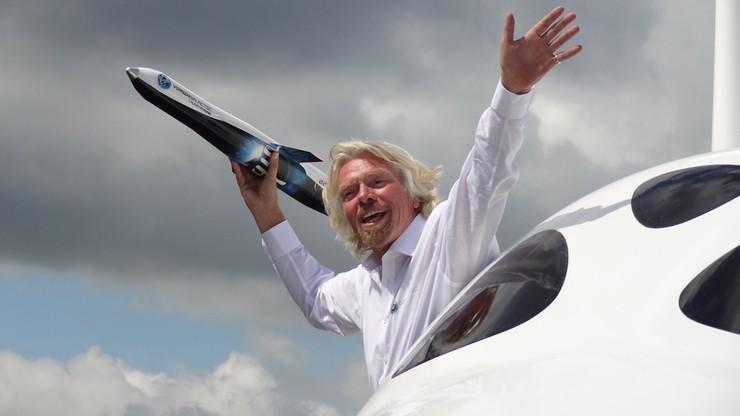 Richard Branson wystrzelił rakietę, aby umieścić ją na orbicie. Nie udało się
