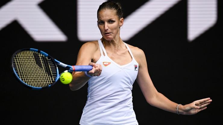 Australian Open: Karolina Pliskova przegrała ze swoją imienniczką Muchovą w czeskim meczu