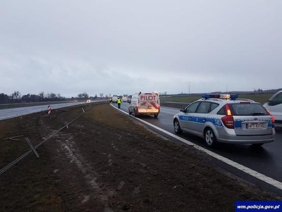 Do wypadku doszło na pasie w kierunku Trójmiasta.
