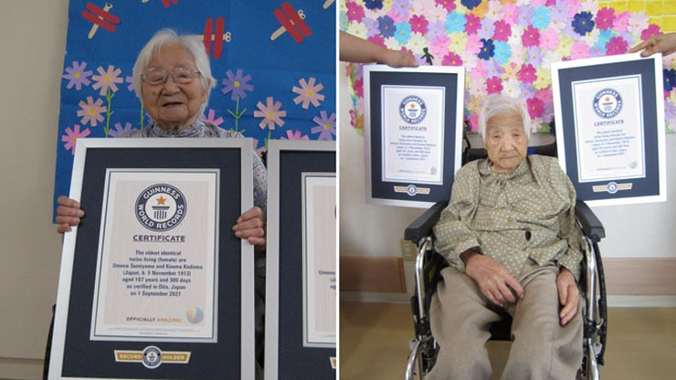 Japonia. Najstarsze na świecie bliźniaczki. 107-letnie siostry w Księdze Rekordów Guinnessa