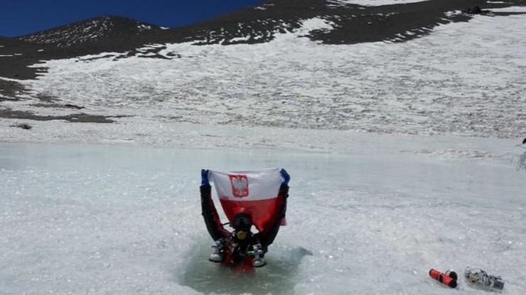 Polak nowym rekordzistą świata w nurkowaniu na wysokości