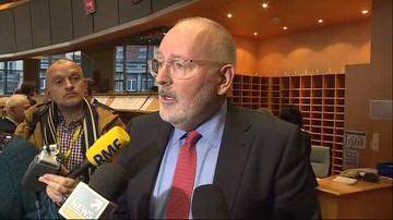 Timmermans: według Polski środki tymczasowe ws. SN wymagają zmian legislacyjnych