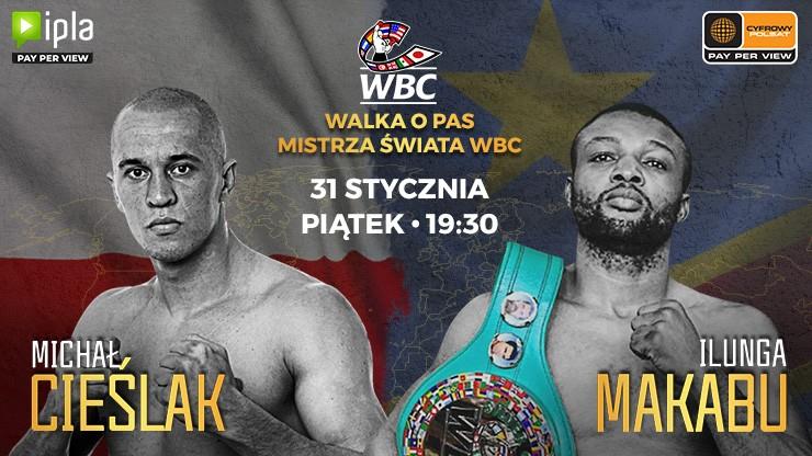 W piątek walka Cieślak - Makabu o mistrzostwo świata. Transmisja w PPV