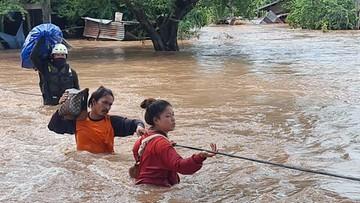 Jedna trzecia kraju pod wodą. Deszcze monsunowe mogą pogorszyć sytuację