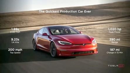Tak w 2 sekundy przyspiesza do setki najpotężniejszy Model S Plaid [WIDEO]